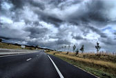 Stormy road — Stock Photo