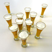 Aerial view of lots of beer glasses — Foto de Stock
