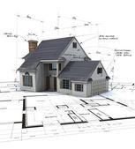 аэрофотоснимок жилищного проекта — Стоковое фото