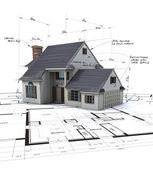 Vue aérienne du projet domiciliaire — Photo