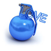 Blue explosive love — Stock Photo
