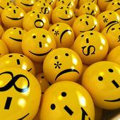 Emoticons background — Stock Photo