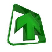 Arrow in green — Stock Photo