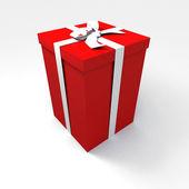 Big red gift — Stock Photo