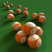 Billiards and number thirteen — Stock Photo