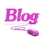Blog in Pink — Stock Photo