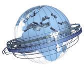 Blue Earth rotation — Stock Photo