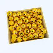 Box of emotion icons — Stock Photo