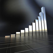 Business chart in chrome — Stock Photo