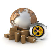 Worldwide Express deliveries — Stock Photo