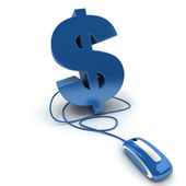 Blue Online money — Stock Photo