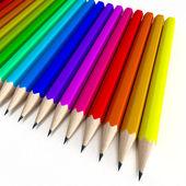 Colorful pencil composition — Stock Photo