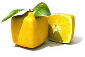 Cubic lemon close up — Stock Photo