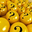 Mysterious yellow balls — Stock Photo #2200169