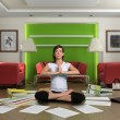 Stock Photo: Zen paperwork