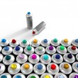 Aerosol cans composition — Stock Photo