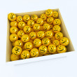 Box full of emoticons — Stock Photo