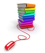Multicolored e-books — Stock Photo