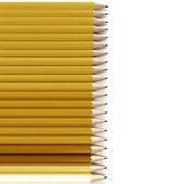 Fond de crayon jaune et orange — Photo