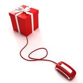 Online gift shopping — Stock Photo