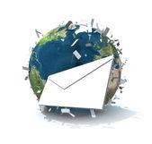 Dünya çapında e-posta — Stok fotoğraf
