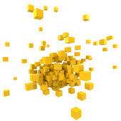 Yellow blocs — Stock Photo