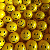 Yellow happy smilies — Stock Photo