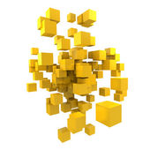 Yellow cubes — 图库照片