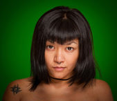 Young hip Asiatic girl — Stock Photo