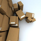 Aerial view of a heap of packages 2 — Stock Photo