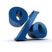 Blue Percentage — Stock Photo