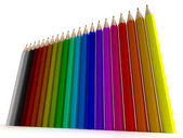 Vertical pencil background — Stock Photo