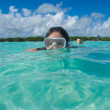Snorkeling in paradise — Stock Photo