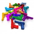 Colorful guns — Stock Photo