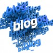 Stock Photo: Blogs in blue