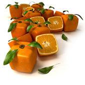 Cubic orange background — Stock Photo