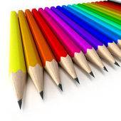 Color pencils close-up — Stock Photo