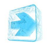 Ice arrow — Stock Photo