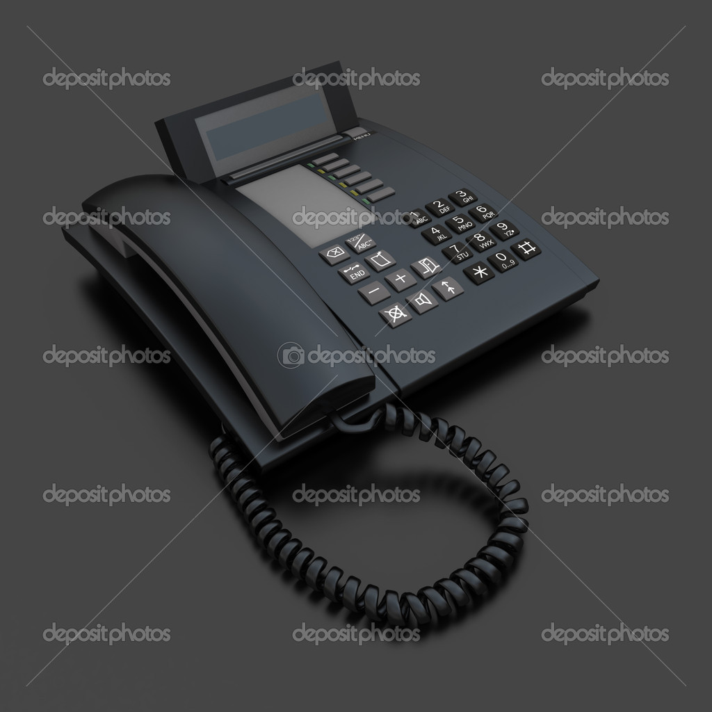 Black business telephone receiver  Stock Photo #2214524