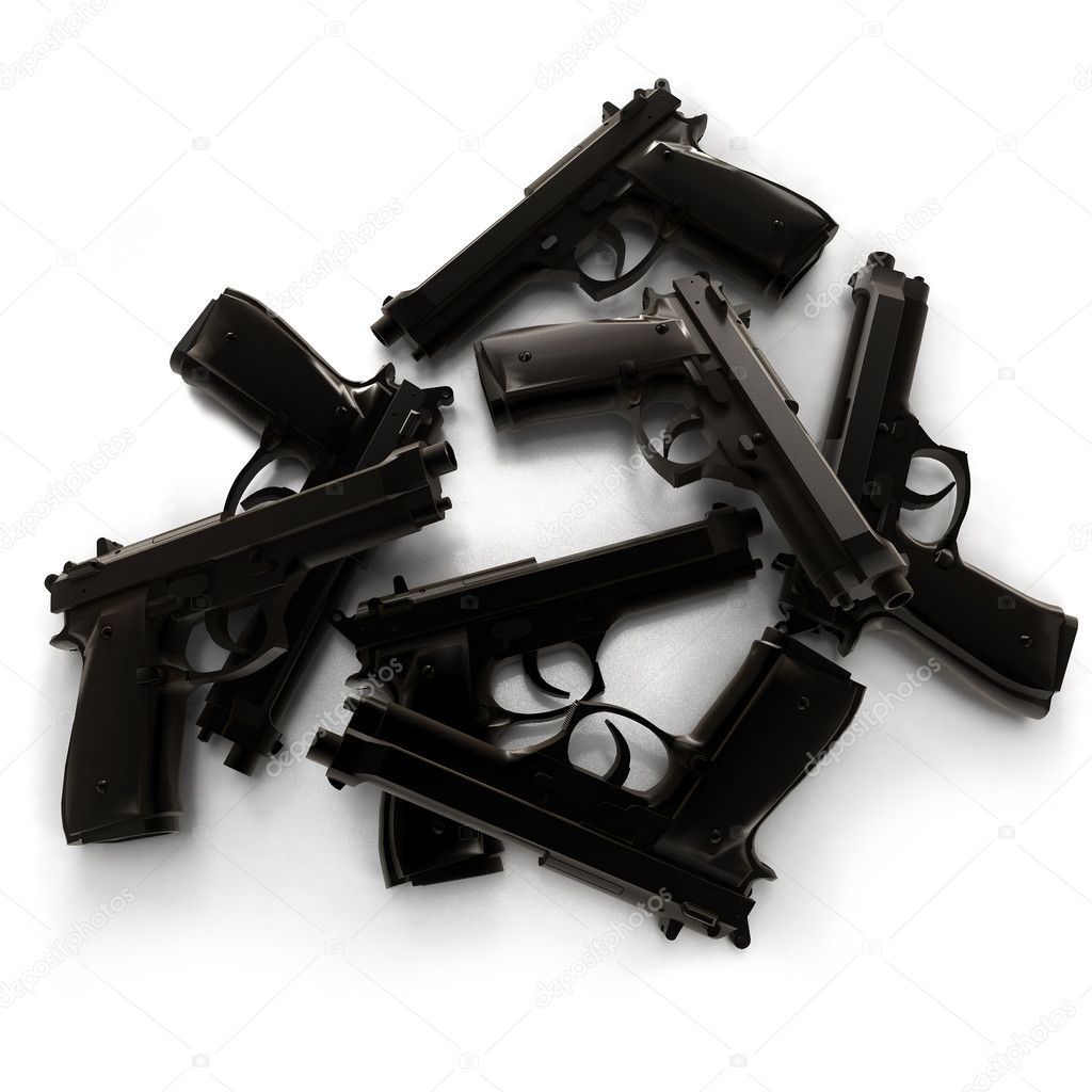 Group of black guns — Stock Photo #2215300