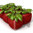 Pack of six cubic strawberries — Stock Photo #2292415