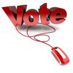 Vote online — Stock Photo