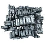 Printing press — Stock Photo