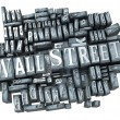 Stock Photo: Wall Street in print
