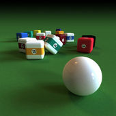 Impractical billiard — Stock Photo