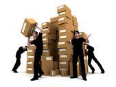 Moving men — Stock Photo