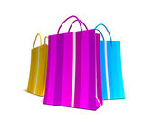 Trio of shopping bags — Stock Photo