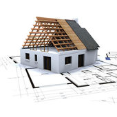 House in construction — Stock Photo