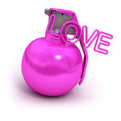 Pink explosive love — Stock Photo