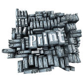 Printing press — Stock Photo